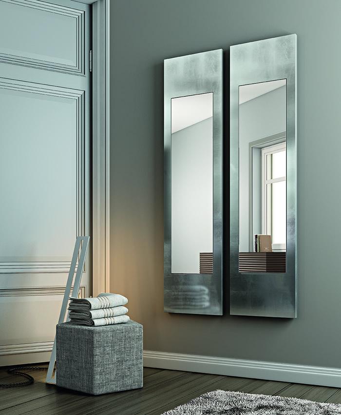 Specchio rivestito in foglia Alisei Designed by Riflessi LAB