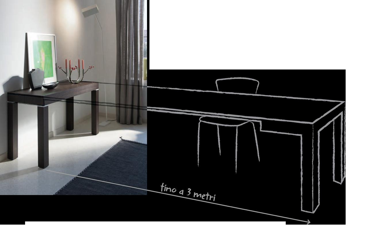 tavolo consolle allungabile p300